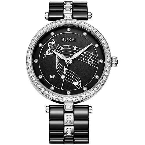 BUREI Orologio Automatico da Donna con Quadrante in Scheletro Meccanico...