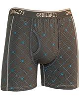 Cariloha Men's Bamboo Underwear  (Small, Carbon Argyle)