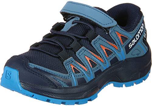 Salomon XA PRO 3D CSWP K, Scarpe da Trail Running Bambini, Blu/Arancione (Navy Blazer/Mallard Blue/Hawaiia, 29 EU