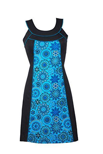 Zeitloses Sommerkleid/Tunika mit figurbetontem Schnitt und frischem Muster – Casual Chic - Skye (L/XL)