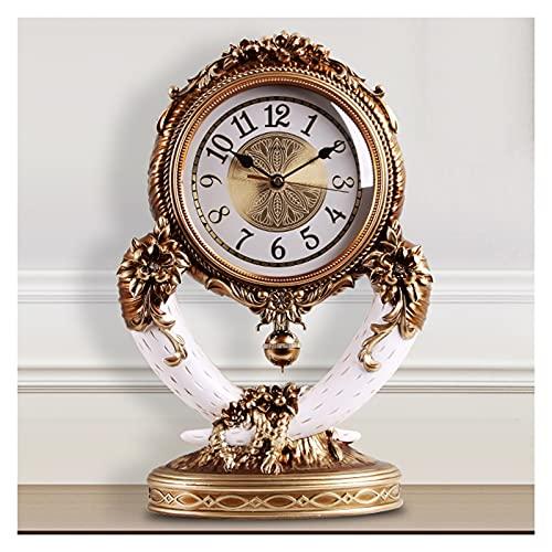 Relojes de cabecera Relojes de mesa relojes de cuarzo relojes de escritorio sala de estar estilo europeo ligero lujo casero cebo de televisión decoraciones de 11 pulgadas Dormitorios Oficina en Casa