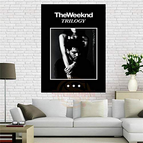 Moderno Tela Pittura Poster The Weeknd Trilogy Music Poster Home Decoration Panno Stampa Poster Da Parete 50 * 75cm