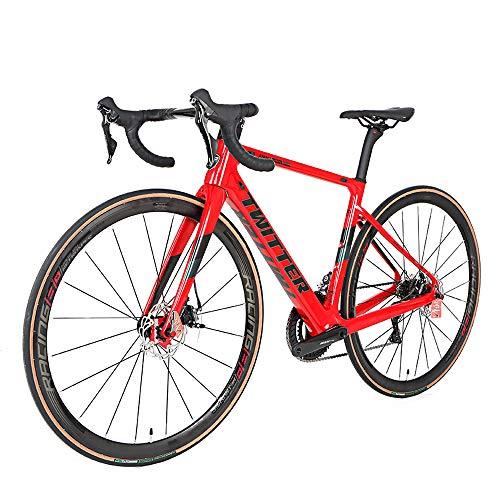 MoMi 700C Fibra De Carbono Completa Bicicleta De Carretera Freno De Disco...