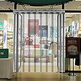 VEVOR Tenda per Porta Esterna 1.25x2.5m, Tenda a Striscia in PVC 5 Fette Trasparente, Tendaggio di Porta con Staffa e Unghie Resistenza a Vento Acqua Graffi Temperatura per Supermercati, Negozi e Sale