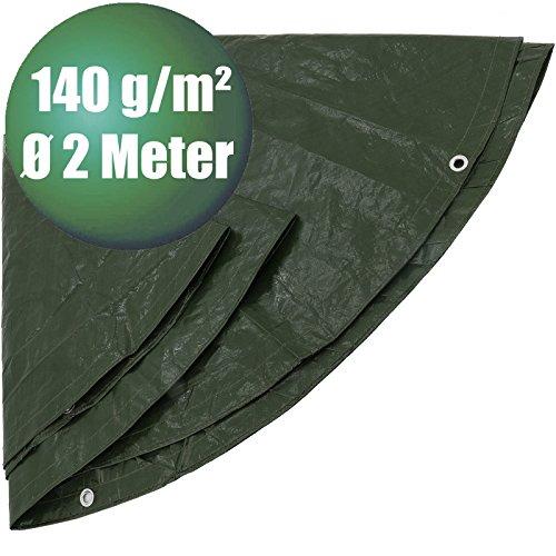 Abdeckplanen rund in Ø 2 m 140 g/m² grün, Ø 2 m 140 g/m²