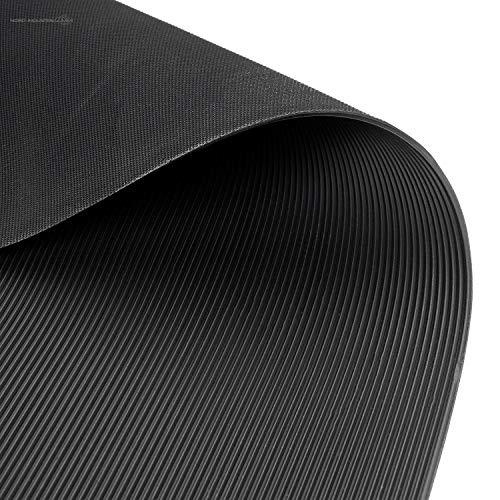 Feinriefenmatte | 3m² 1,2 x 2,50m [Größe + Farbe wählbar] Stärke: 3mm | Farbe: Schwarz