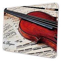 ゲーミングマウスパッド - 楽譜上のギター マウスパッド おしゃれ ゲームおよびオフィス用/防水/洗える/滑り止め/ファッショナブルで丈夫 25x30cm