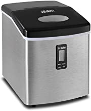 DEVANTI Ice Maker Portable Commercial Ice Cube Machine Stainless Steel 3.2L