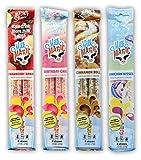 Milk Flavoring Straws, 4-Pack Bundle (16 count),Unicorn Kisses, Strawberry Banana, Birthday Cake, Cinnamon Roll