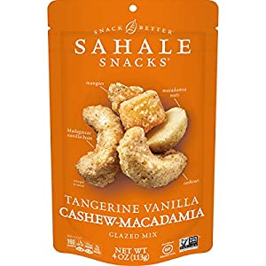 Sahale Snacks Tangerine Vanilla Cashew Macadamia Glazed Mix, 4 Ounces (Pack of 6)