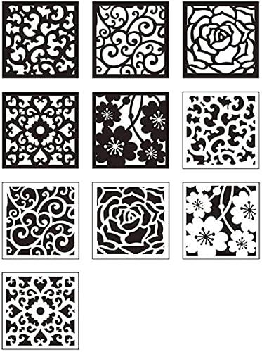 Película Autoadhesiva 10 Piezas PVC Para Azulejos De Mosaico, Pegatinas Decorativas Para Azulejos De Pared, Pegatinas Impermeables Para Azulejos De Bricolaje, Fondo Para Cocina Y Baño, 20X20cm