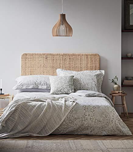 Morris & Co Pure Pimpernel Duvet Cover Lightish Grey, Cotton, Kingsize
