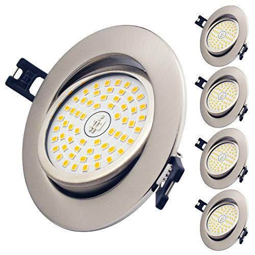 LED Einbaustrahler Ultra Flach, 5er Set 12W LED Deckenstrahler Warmweiß 3000K 900LM 230V LED Spot Nicht Dimmbar, IP44 Schwenkbar Deckenspot für Wohnzimmer, Badezimmer
