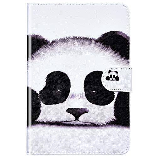 Felfy Kompatibel mit Huawei MediaPad M5 Lite 10 Hülle Leder Flip Case PU Leder & Silikon Schutzhülle Stoßfest Smart Cover Tasche mit Automatischem Schlaf Funktion und Standfunktion - Panda