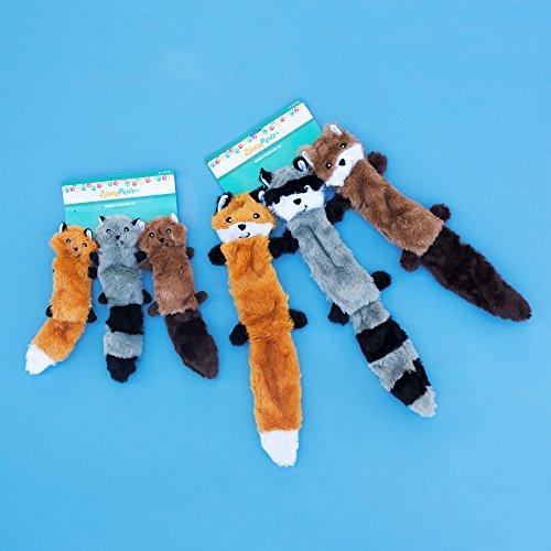 ZippyPaws – Skinny Peltz No Stuffing Squeaky Plush Dog Toy