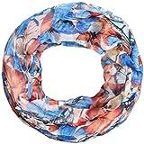 Zarter Sommer Crinkle Loopschal Model: Schmetterling 1' angenehm und leicht zu tragen, Damen Rundschal, Schal, Loop, Sommerschal (blau)