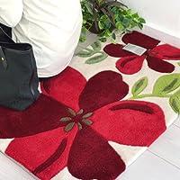 なかね家具 玄関マット 北欧 滑り止め加工付き 手洗いウォッシャブル かわいい花柄 50×80 120fukku