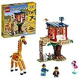 LEGO31116Creator3en1CasadelÁrbolenlaSabanaJuguetedeconstruccióndeunBarcoCatamarán,AviónBiplanoyLeón