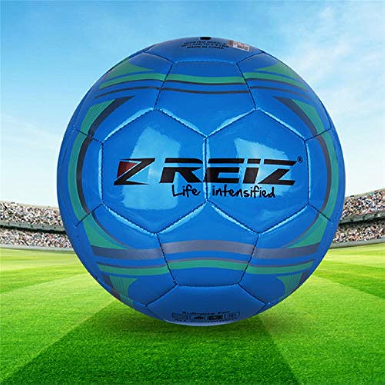 Reiz 533 High Quality Official Size 5 Standard PU Soccer Ball Training Football Balls Indoor&Outdoor Training Ball Net Needle   blueee