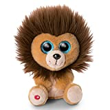 NICI 46946 Original – Glubschis Cliff 15 cm – Kuscheltier Löwe Augen – Flauschiges Plüschtier mit großen Glitzeraugen – Schmusetier für Kuscheltierliebhaber, braun/braun