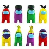 BESTZY Among Us Figuras en Miniatura 8PCS Among Us Figure Toy Entre Nosotros Juguetes Navidad DIY Figuras de Jardín Decoraciones Adornos de Mesa Escritorio Figuras de Juguete Lindas Colección