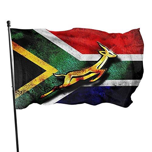 Jacklee Zuid-Afrika Vlag Tuinvlaggen Duurzame Fade Resistant Decoratieve Vlaggen Premium Kwaliteit Officiële Vlag met Grommets Polyester Deluxe Outdoor Banner 2020 voor Alle Seizoenen & Vakanties- 3X 5 Ft