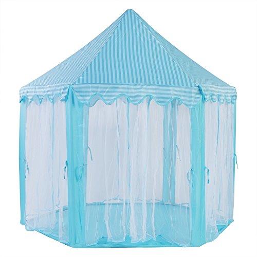 Annjom Tienda Castle Play, Tienda de Juguete para niños Firme y Estable, Plegable y portátil para niñas y niños(Blue)