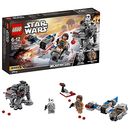 LEGO Star Wars- Ski Speeder vs First Order Walker Microfighters Lego Juego de Construcción, Multicolor, única (75195)