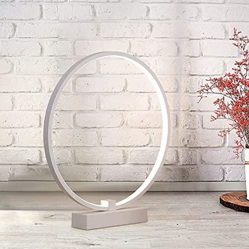 YXKA Lámpara De Mesa Pequeña De Protección Ocular Led, Lámpara De Luz Blanca De Estudio De Dormitorio Led Redonda De Acrílico Creativa Moderna
