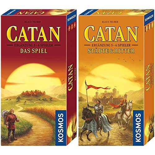 Kosmos - Catan - Ergänzung für 5-6 Spieler, neue Edition, Strategiespiel &  695514 - Catan - Städte & Ritter Ergänzung für 5 - 6 Spieler