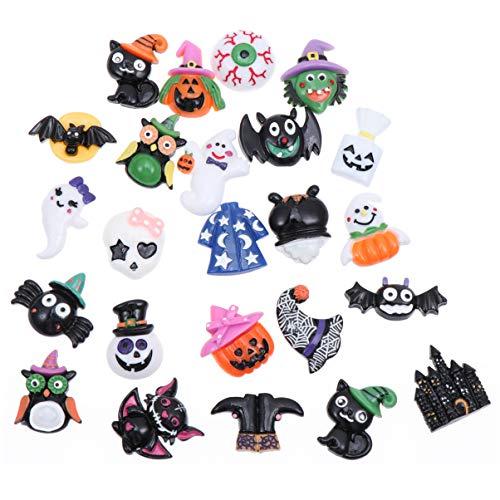 TOYANDONA 24pcs Halloween Resin Flatback, Halloween Craft-Embellishment...