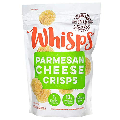 Cello Whisps All Natural Non-GMO Gluten Free Parmesan Cheese Crisps - 9.5 oz