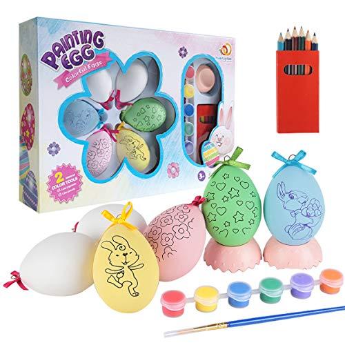 Yigou Huevos de Pascua, Decoracion Pascua DIY Huevos Pascua Plástico Huevos Pascua Decoracion Regalo Pascua Juguetes Pascua con Caja de Embalaje