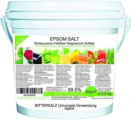 bleu & marine Bretania Sel Epsom Engrais de Jardin Universel Ecologique 2.5kg Fertilisant Potager Nutriment Plantes d...