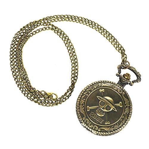 CoolChange One P. Taschenuhr mit Jolly Roger der Strohhutbande