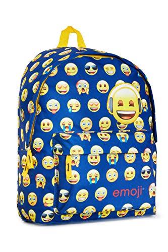 Emoji - Mochila escolar niñas y niños, para la escuela, Color Azul Marino, Talla única