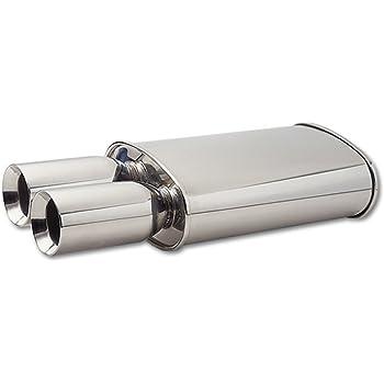 Vibrant 1102 Oval Stainless Steel Muffler Vibrant Performance