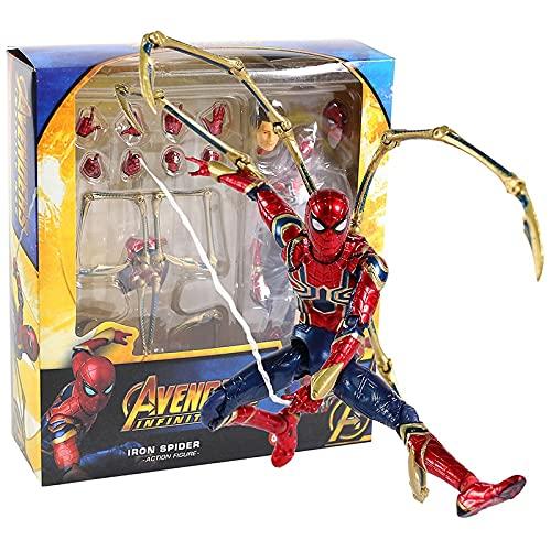 JSJJAUA Figura de acción Infinity War Iron Spider Spiderman Action Figure Collectible Modelo de Juguete muñeca (Color : MAF081 Box)