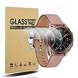 Diruite 4 Pack Compatible con Samsung Galaxy Watch 4 41mm Cristal Templado Protector Pantalla,HD Film 9H Dureza Transparente Antiarañazos