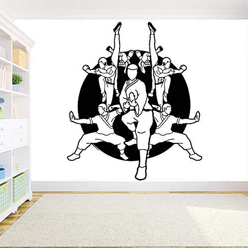 Geiqianjiumai Karate Martial Arts Schule Kämpfer Karate Gym beweglichen Wandaufkleber Schlafzimmer Dekoration 63x54cm