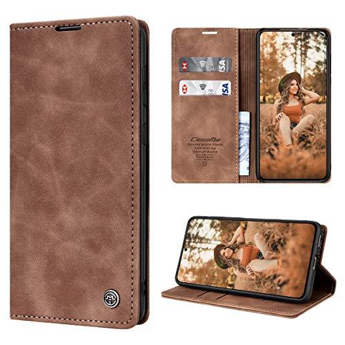 SmartLegend Funda para Samsung Galaxy S21+ Plus 5G con Tapa Funda Galaxy S21+ Plus Libro Cuero PU Premium Magnético Tarjetero y Suporte Silicona Carcasa Samsung Galaxy S21 Plus (6.7'') - Marrón