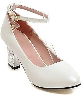 BalaMasa Womens Dance-Ballroom Solid Urethane Pumps Shoes APL10519