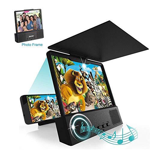BABYS'q Lupa de Pantalla de teléfono 3D HD con Altavoces Bluetooth Amplificador de Pantalla Ampliador de teléfono Celular para iPhone y Android Todos los teléfonos celulares con teléfono Inteligente