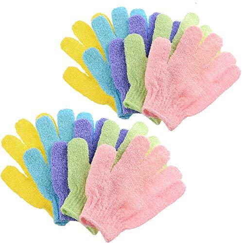 10 Paare Dusche Handschuh, Peelinghandschuhe, Scrubbing Badehandschuhe doppelseitige Bathwater Scrubbing Massage Handschuhe, Peeling Mitt, für Männer Frauen Kinder