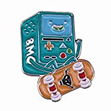 Skateboard émail Pin Game Boy King of Ooo Finn and Jake Video Game Console système Robot Broche Badge