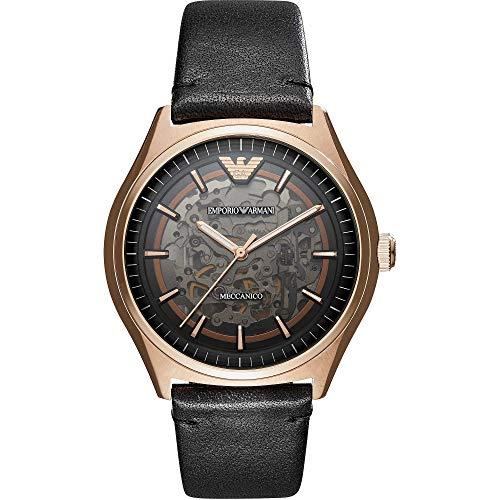 Armani Reloj Analógico para Hombre de Cuarzo con Correa en Cuero AR60004