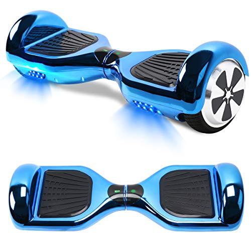 TOEU Hoverboard Scooter Elettrico Autobilanciato, con Bluetooth e Luci LED, Ruote 6,5 Pollici, Motore 2 x 250W