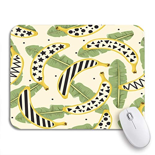 Gaming mouse pad gelb abstrakte bananenblätter pflanzen fantasie muster exotische blumen rutschfeste gummi backing mousepad für notebooks computer maus matten