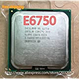 For Core 2 Duo e6750 E6750 Processor 2.66 GHz Dual-Core SLA9V LGA 775 Desktop cpu(working 100%