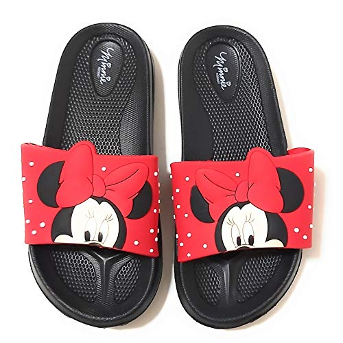 Chanclas Minnie Mouse para Playa o Piscina - Chanclas Disney Minnie Mouse 3D para Niñas (numeric_31)